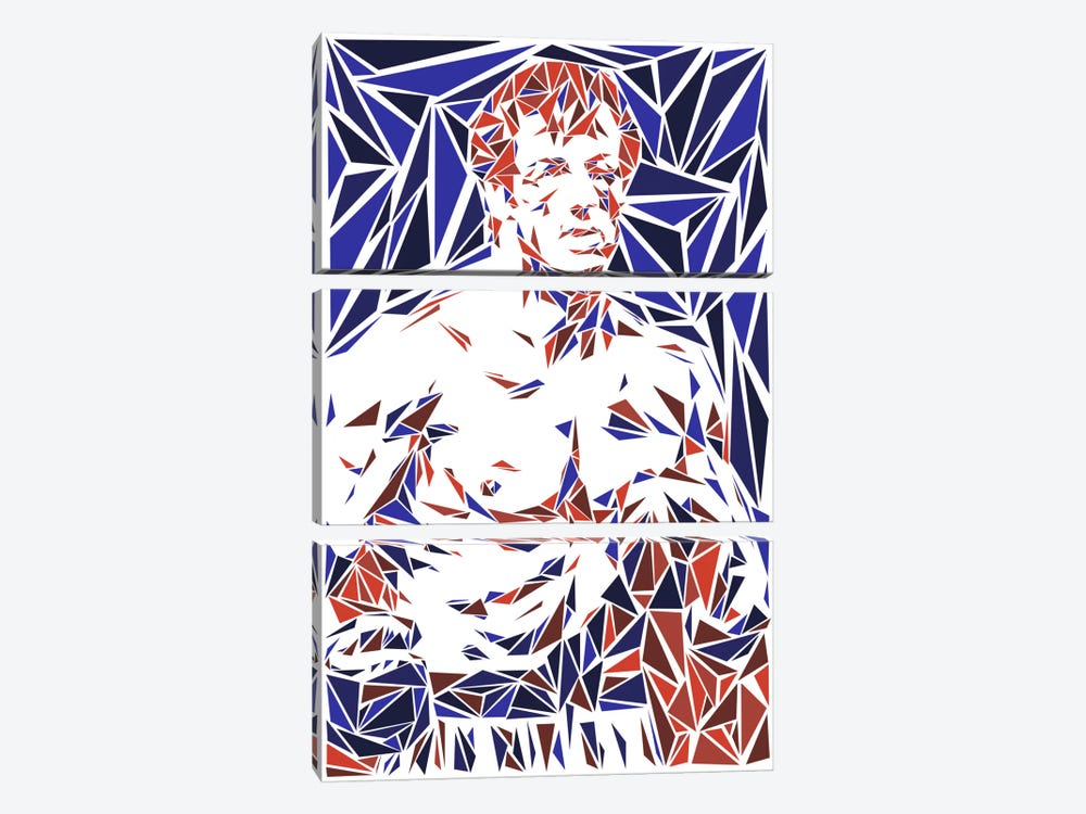 Rocky Balboa by Cristian Mielu 3-piece Canvas Art Print