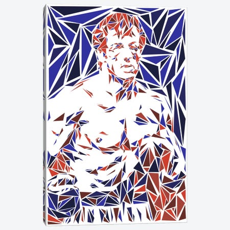 Rocky Balboa Canvas Print #MIE63} by Cristian Mielu Canvas Art Print