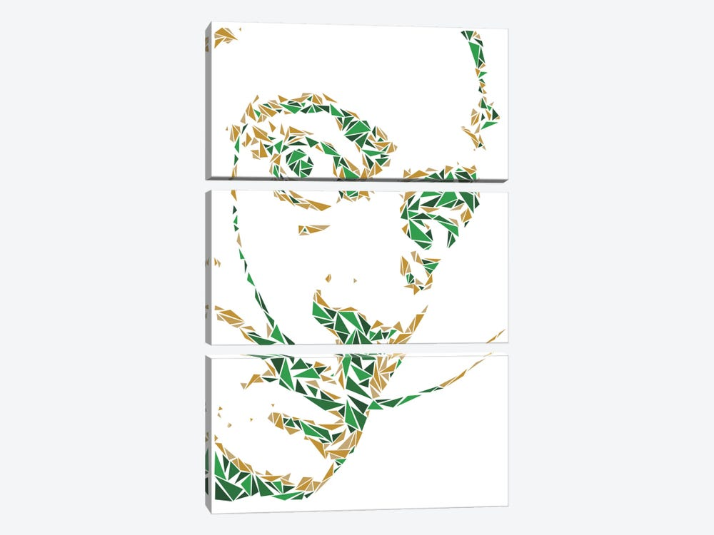 Salvador Dali by Cristian Mielu 3-piece Canvas Wall Art