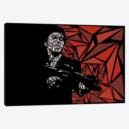 Scarface Canvas Print #MIE65} by Cristian Mielu Canvas Art