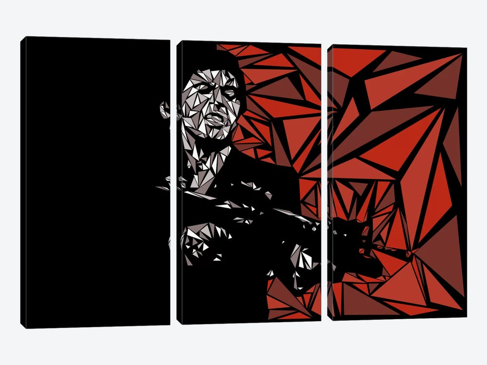 Scarface by Cristian Mielu 3-piece Canvas Print