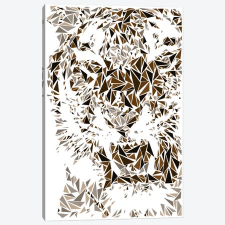 Tiger Canvas Print #MIE67} by Cristian Mielu Canvas Artwork
