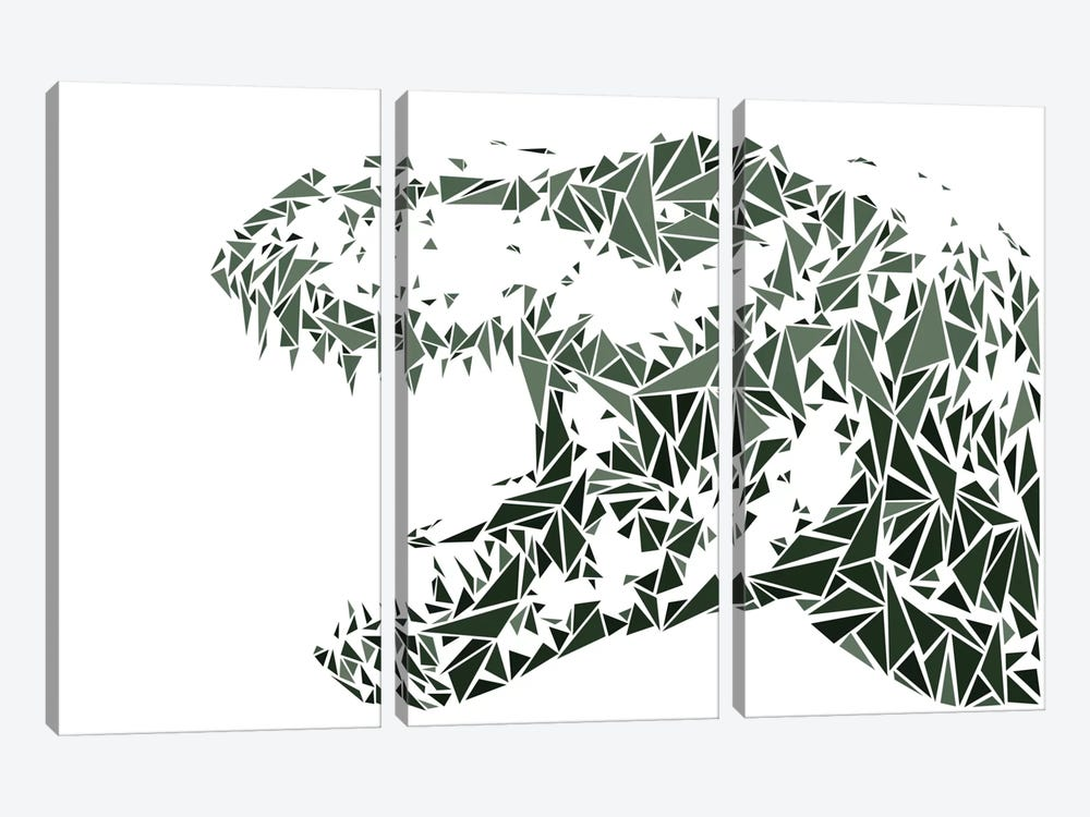 Tyrannosaurus Rex by Cristian Mielu 3-piece Canvas Art
