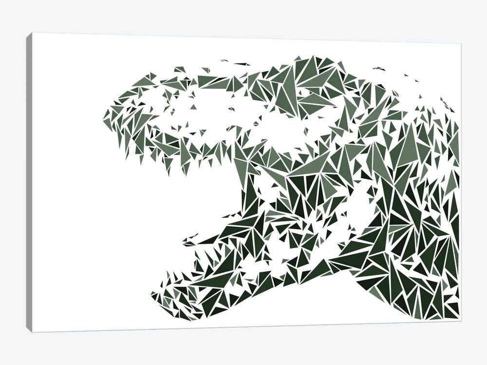 Tyrannosaurus Rex by Cristian Mielu 1-piece Canvas Wall Art