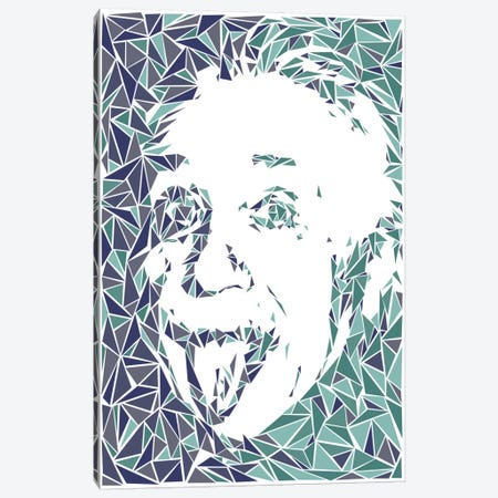 Albert Einstein Canvas Print #MIE6} by Cristian Mielu Art Print