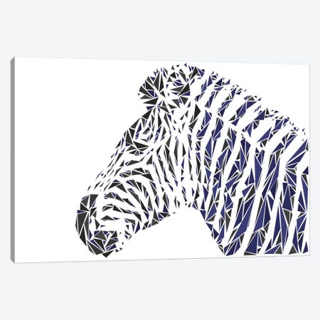 Zebra Canvas Print #MIE71} by Cristian Mielu Canvas Wall Art