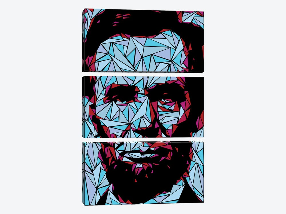 Abraham Lincoln II by Cristian Mielu 3-piece Art Print