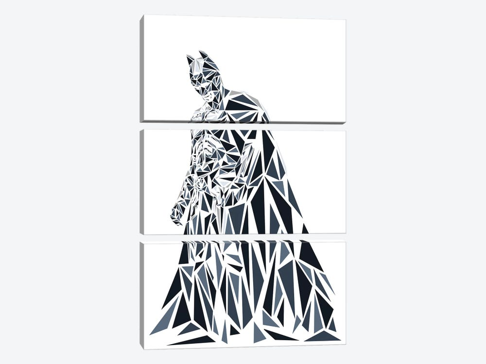 Batman II by Cristian Mielu 3-piece Canvas Artwork