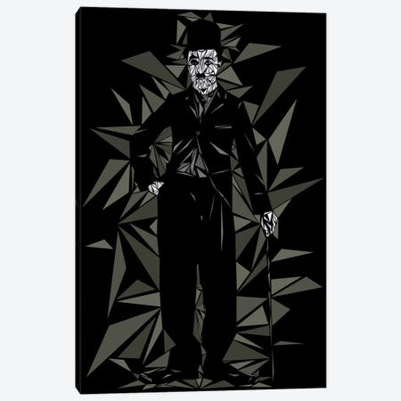 Charlie Chaplin II Canvas Print #MIE79} by Cristian Mielu Canvas Art