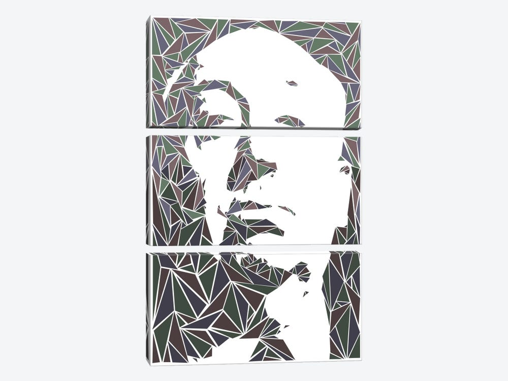 Alfred Hitchcock by Cristian Mielu 3-piece Canvas Artwork