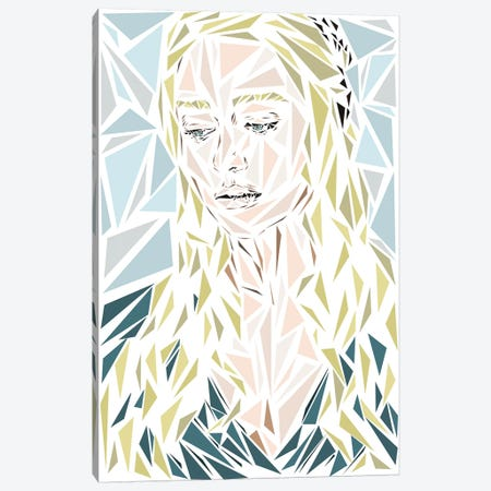 Daenerys Canvas Print #MIE80} by Cristian Mielu Canvas Print