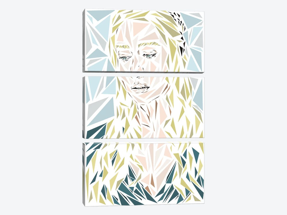 Daenerys by Cristian Mielu 3-piece Canvas Artwork