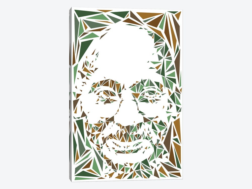 Gandhi by Cristian Mielu 1-piece Canvas Art