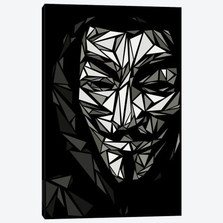 Guy Fawkes II Canvas Print #MIE87} by Cristian Mielu Canvas Wall Art