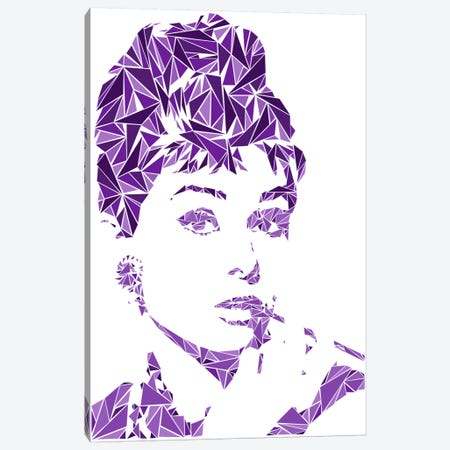 Audrey Hepburn Canvas Print #MIE9} by Cristian Mielu Canvas Artwork