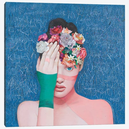 Floral Mind #41 Canvas Print #MIH14} by Minas Halaj Canvas Artwork