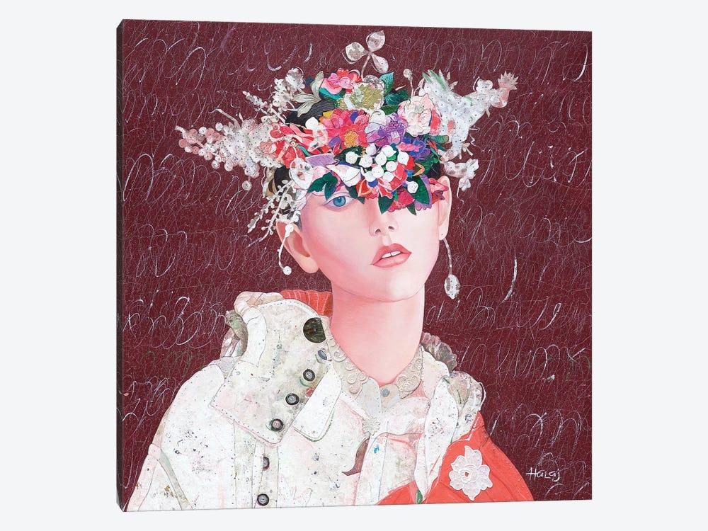 Floral Mind #43 by Minas Halaj 1-piece Canvas Art Print