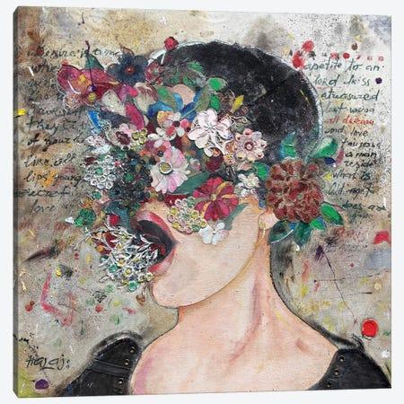 Girl From Wall Street Canvas Print #MIH17} by Minas Halaj Canvas Wall Art