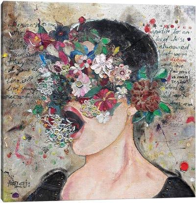 Girl From Wall Street Canvas Art Print