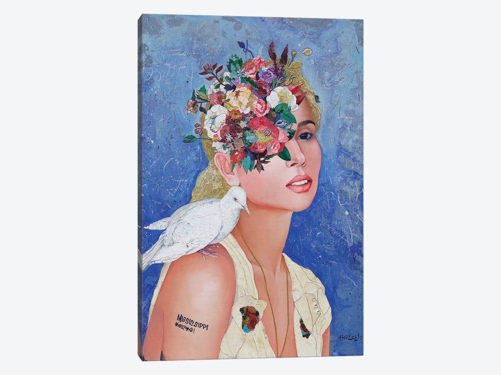 Floral Mind #42 by Minas Halaj 1-piece Canvas Art Print
