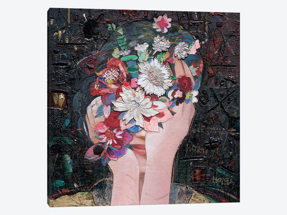 Floral Girl by Minas Halaj 1-piece Canvas Artwork