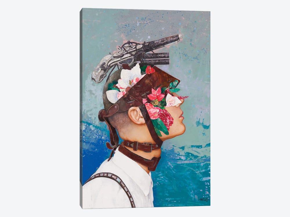 Floral Mind #39 by Minas Halaj 1-piece Canvas Artwork