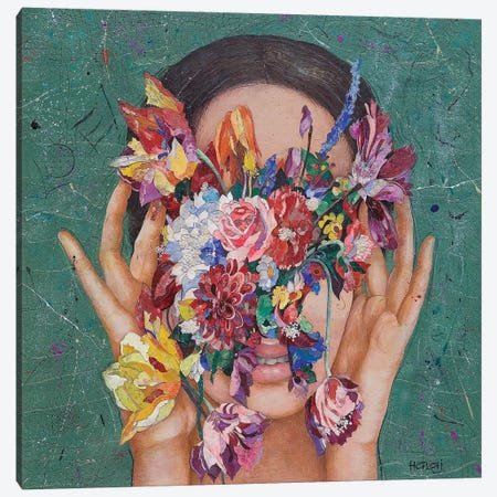 Floral Mind #16 Canvas Print #MIH29} by Minas Halaj Canvas Wall Art