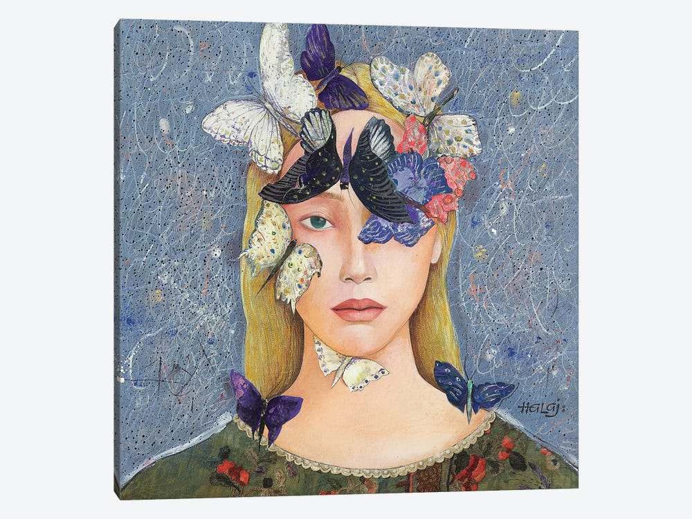 Butterfly #2 by Minas Halaj 1-piece Canvas Wall Art
