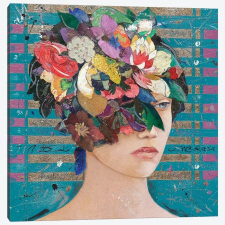 Floral Mind #20 3-Piece Canvas #MIH33} by Minas Halaj Canvas Print