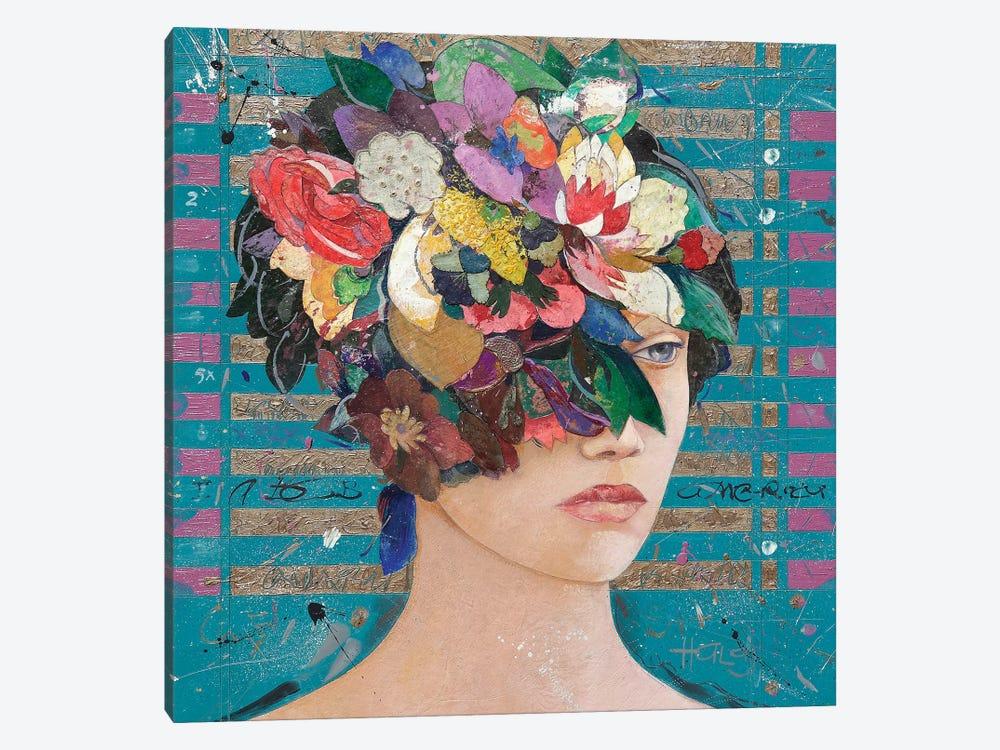 Floral Mind #20 by Minas Halaj 1-piece Canvas Print