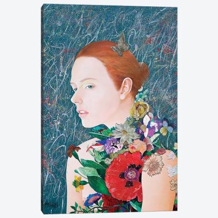 Floral Mind # 46 Canvas Print #MIH34} by Minas Halaj Canvas Art
