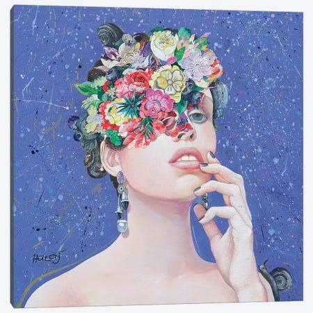 Floral Mind #36 Canvas Print #MIH4} by Minas Halaj Canvas Art