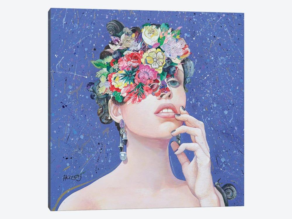 Floral Mind #36 by Minas Halaj 1-piece Canvas Wall Art