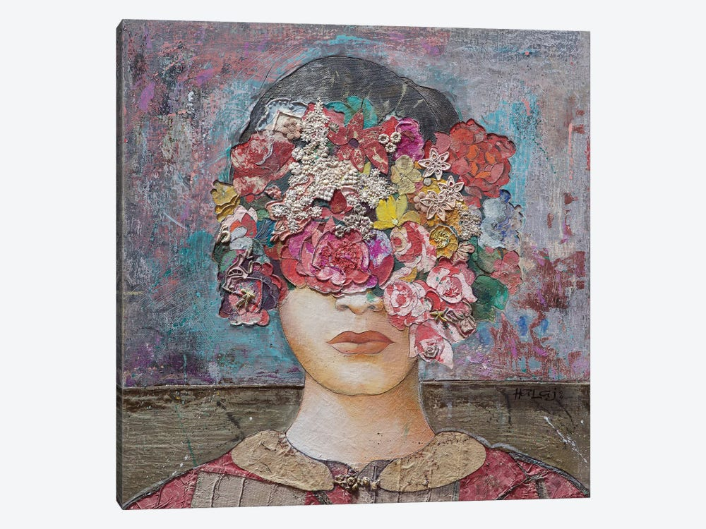 Floral Mind #2 by Minas Halaj 1-piece Canvas Print