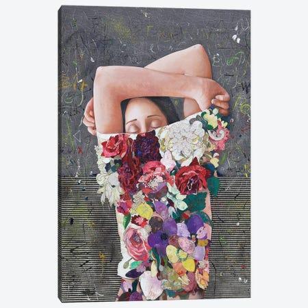 Floral Mind #25 Canvas Print #MIH8} by Minas Halaj Art Print