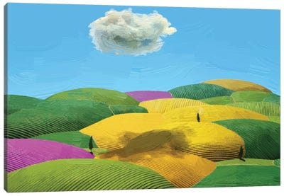 Summer Tuscan Landscape Canvas Art Print