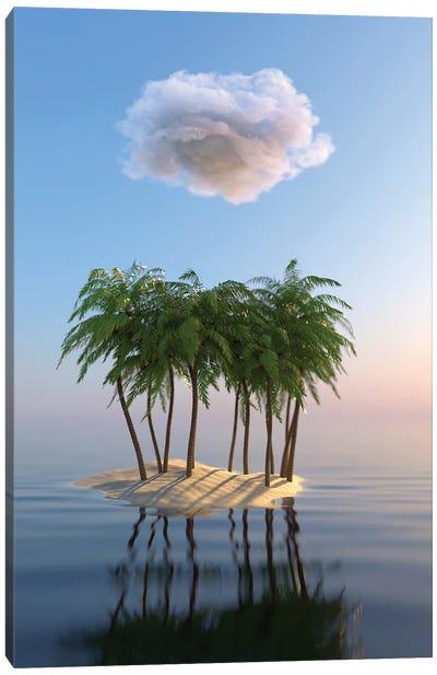 Small Tropical Island In The Sea Canvas Art Print