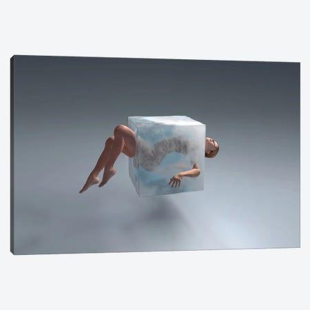 Woman In Ice Cube Canvas Print #MII210} by Mike Kiev Art Print