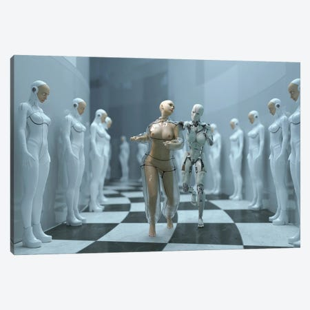 Escape From The Human Cloning Factory Canvas Print #MII255} by Mike Kiev Canvas Artwork