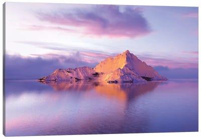Frozen Mountains In The Sea II Canvas Art Print