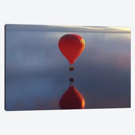 Hot Air Balloon Flies Over Water II Canvas Print #MII45} by Mike Kiev Canvas Wall Art