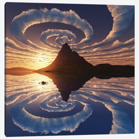 Spiral Clouds Over Mountain Peak Canvas Print #MII48} by Mike Kiev Art Print