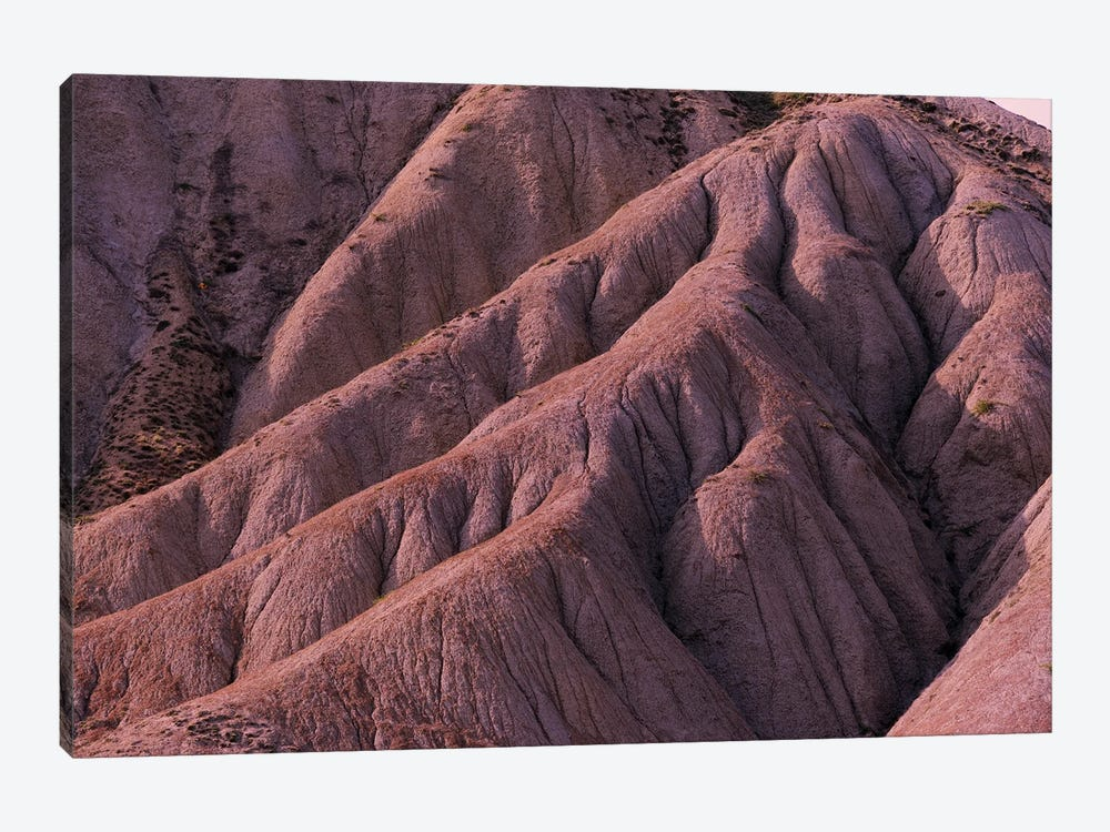 Red Eroded Mountainside by Mike Kiev 1-piece Canvas Print