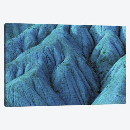 Blue Eroded Mountainside 3-Piece Canvas #MII73} by Mike Kiev Canvas Artwork