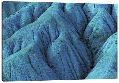 Blue Eroded Mountainside Canvas Art Print