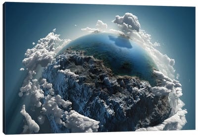 Cloud Earth In Space Canvas Art Print