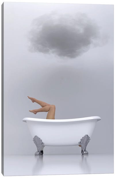woman relaxing in the bath 2 Canvas Art Print