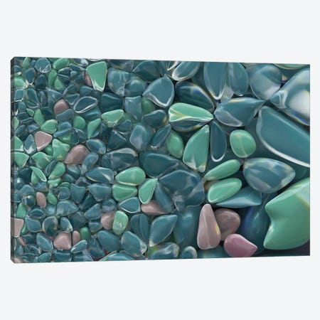 Colourful Sea Pebble Background Canvas Print #MII8} by Mike Kiev Canvas Art