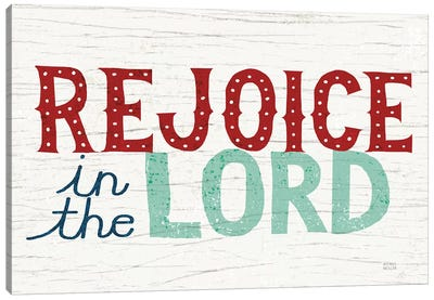 Holiday on Wheels - Rejoice in the Lord Canvas Art Print