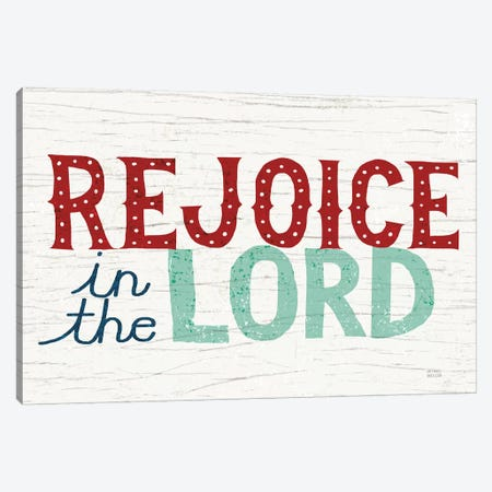 Holiday on Wheels - Rejoice in the Lord Canvas Print #MIM12} by Michael Mullan Canvas Wall Art